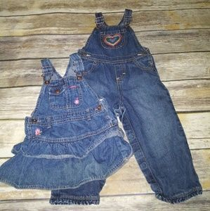 Lot of Oshkosh B'Gosh 24 months-Overalls and dress